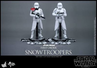 Hot Toys Star Wars Force Attacks - First Order Snowtrooper set -pair accessories